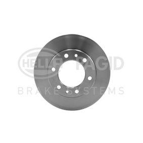 HELLA  8DD 355 105-191 Bremsscheibe Bremsscheibendicke: 20,0mm, Ø: 302mm