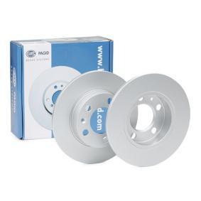 Polo 9n 2.0 Total Flex Bremsscheiben HELLA PRO 8DD 355 105-411 (2.0 Total Flex Benzin/Ethanol 2008 CFEA)