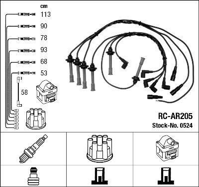 NGK  0524 Kit cavi accensione