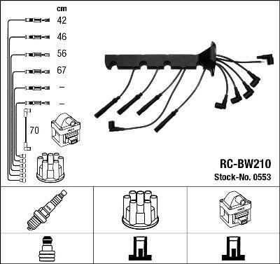 NGK  0553 Kit cavi accensione