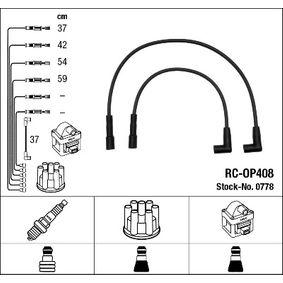 Cables de Encendido OPEL CORSA A TR (91_, 92_, 96_, 97_) 1.2 S de Año 09.1982 55 CV: Juego de cables de encendido (0778) para de NGK