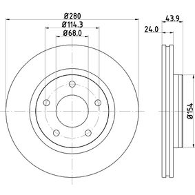 Brake Disc 8DD 355 117-321 JUKE (F15) 1.5 MY 2020