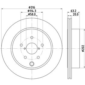 Bremsscheibe 8DD 355 118-451 IMPREZA Schrägheck (GR, GH, G3) 2.5 WRX STI AWD (GRF) Bj 2011