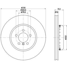 Brake Disc Brake Disc Thickness: 30mm, Ø: 370mm with OEM Number 34 106 797 606
