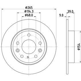 Bremstrommel Trommel-Ø: 180mm, Br.Tr.Durchmesser außen: 211,5mm mit OEM-Nummer 171.501.615A