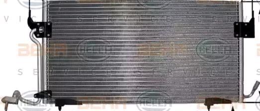 HELLA  8FC 351 301-284 Kondensator, Klimaanlage