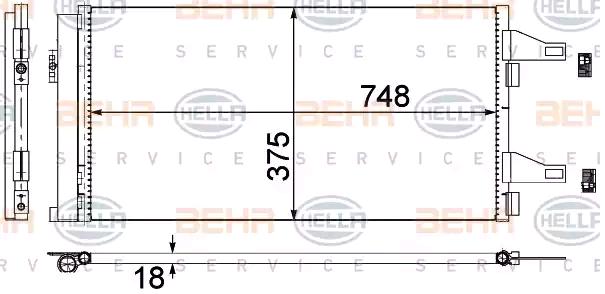 Klimakondensator 8FC 351 301-604 HELLA 8FC 351 301-604 in Original Qualität