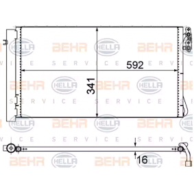 Kondensator, Klimaanlage 8FC 351 302-624 1 Schrägheck (E87) 118d 2.0 Bj 2007