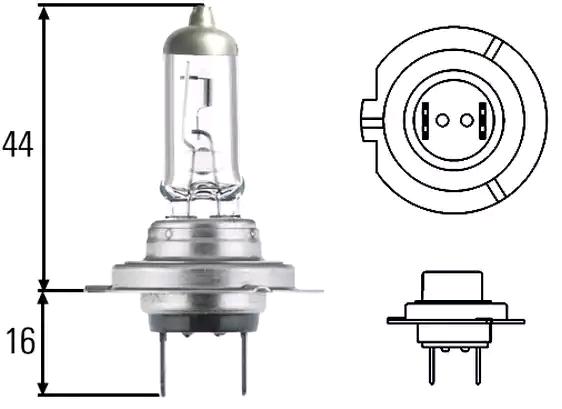 Glühlampe, Hauptscheinwerfer 8GH 007 157-558 HELLA H7CT20 in Original Qualität