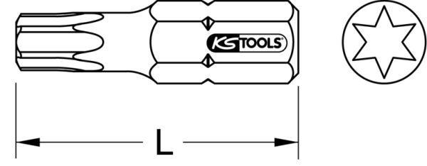 Ponta de aparafusar KS TOOLS 911.2327 classificação