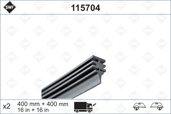 SWF  115704 Wiper Blade Rubber
