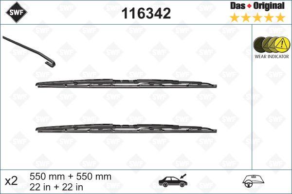 Scheibenwischer 116342 SWF 116342 in Original Qualität