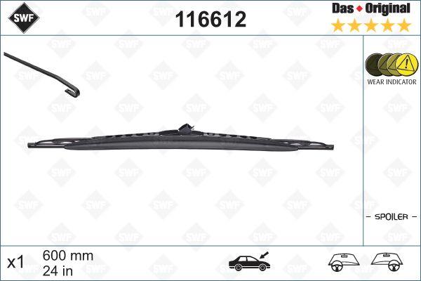 Scheibenwischer 116612 SWF 116612 in Original Qualität