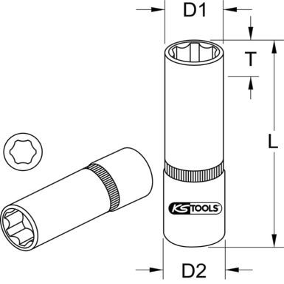 Steckschlüsseleinsatz 918.1523 KS TOOLS 918.1523 in Original Qualität