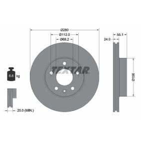 Bremsscheibe Bremsscheibendicke: 24,0mm, Ø: 280mm mit OEM-Nummer 701.615.301F
