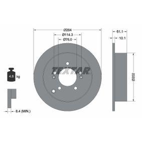 Bremsscheibe Bremsscheibendicke: 10,1mm, Ø: 284mm mit OEM-Nummer 584113A300