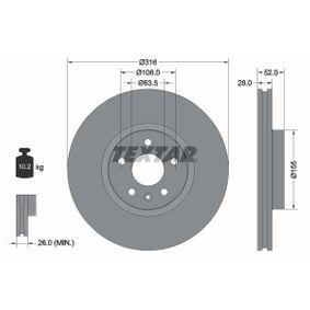 Bremsscheibe Bremsscheibendicke: 28mm, Ø: 316mm mit OEM-Nummer 1380046