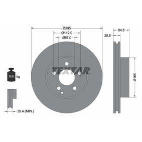 Brake Disc 92163205 E-Class Saloon (W212) E 350 3.5 (212.059) MY 2013