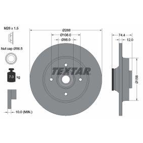 TEXTAR PRO 92168703 Bremsscheibe Bremsscheibendicke: 12,0mm, Ø: 268mm