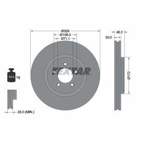 TEXTAR PRO+ 92173505 Bremsscheibe Bremsscheibendicke: 30,0mm, Ø: 326mm