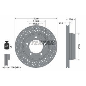 TEXTAR PRO+ 92176705 Bremsscheibe Bremsscheibendicke: 24,0mm, Ø: 299mm