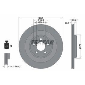 TEXTAR PRO+ 92178005 Bremsscheibe Bremsscheibendicke: 20,0mm, Ø: 326mm