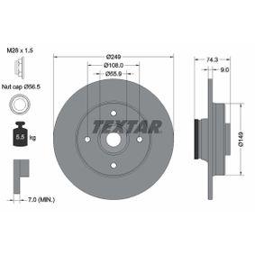 Bremsscheibe Bremsscheibendicke: 9,0mm, Ø: 249mm mit OEM-Nummer 4249 66