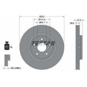 Disco de freno 92283303 CR-V 4 (RM_) 2.4 ac 2015
