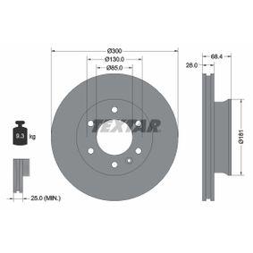 TEXTAR PRO 93143203 Bremsscheibe Bremsscheibendicke: 28,0mm, Ø: 300mm