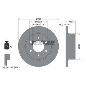 Bremsscheibe Bremsscheibendicke: 16,0mm, Ø: 298mm mit OEM-Nummer 906.423.00.12