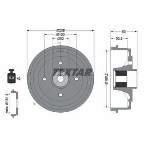 Bremstrommel Trommel-Ø: 180,2mm, Br.Tr.Durchmesser außen: 208mm mit OEM-Nummer 424719