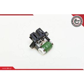 Resistor, interior blower 95SKV011 PUNTO (188) 1.2 16V 80 MY 2004