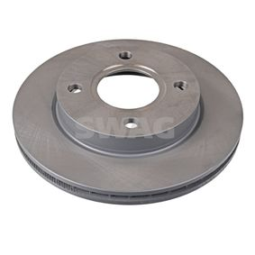 SWAG Brake disc kit Front Axle, Internally Vented, Coated