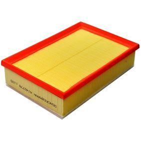 Luftfilter Länge: 275mm, Breite: 185mm, Höhe: 65mm mit OEM-Nummer 1L0129620