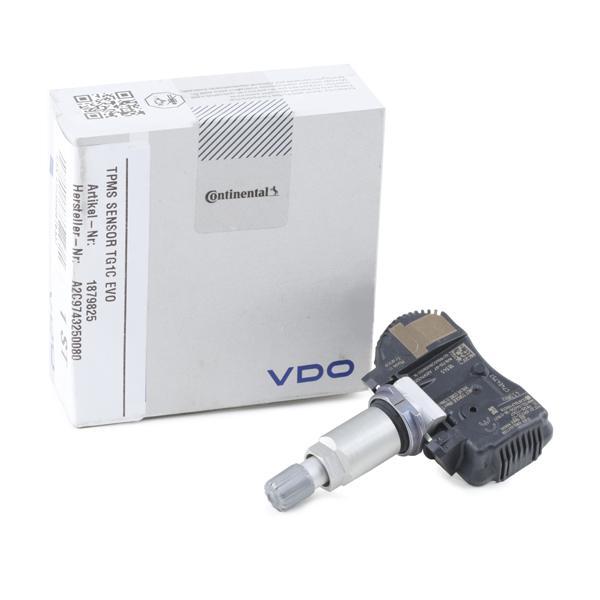 Wheel Sensor, tyre pressure control system VDO A2C9743250080 expert knowledge