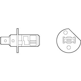 Glühlampe, Fernscheinwerfer H1, 55W, 12V 032501 VW GOLF, PASSAT, POLO