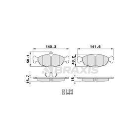 Комплект спирачно феродо, дискови спирачки AA0009 Corsa B Хечбек (S93) 1.2 i (X 12 SZ, C 12 NZ) Г.П. 1996