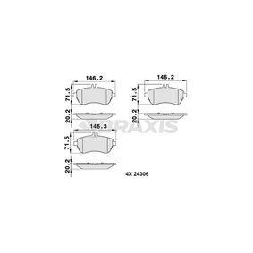 2012 Mercedes W204 C 200 CDI 2.2 (204.001) Brake Pad Set, disc brake AA0036