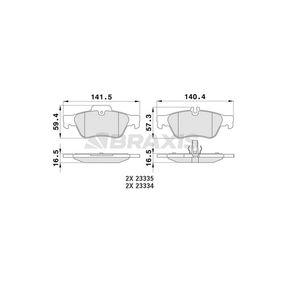 Bremsbelagsatz, Scheibenbremse Höhe 1: 59,7mm, Dicke/Stärke 1: 16,5mm mit OEM-Nummer 0064200120