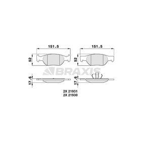 Brake Pad Set, disc brake AA0089 PUNTO (188) 1.2 16V 80 MY 2006