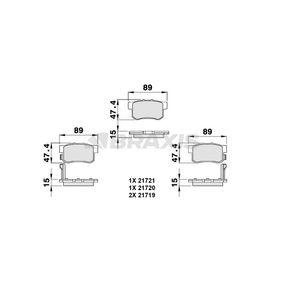 Honda Civic eu7 1.6i Bremsbeläge BRAXIS AB0076 (1.6i Benzin 2001 D16W7)