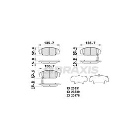 Brake Pad Set, disc brake Height 1: 52,4mm, Thickness 1: 15,8mm with OEM Number 45022-S2A-E50