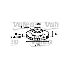 Bremsscheibe Bremsscheibendicke: 22mm, Felge: 4-loch, Ø: 239mm mit OEM-Nummer 605 14 881