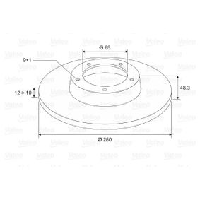 Bremsscheibe Bremsscheibendicke: 12mm, Felge: 9-loch, Ø: 256mm mit OEM-Nummer 1K0615601AJ