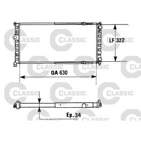 Ψυγείο, ψύξη κινητήρα με OEM αριθμός 6K0.121.253 A