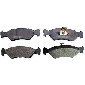 Bremsbelagsatz, Scheibenbremse Höhe: 44,4mm, Dicke/Stärke: 17,2mm mit OEM-Nummer 1010503