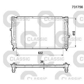 VALEO Kühler, Motorkühlung 231756 für AUDI A6 (4B2, C5) 2.4 ab Baujahr 07.1998, 136 PS