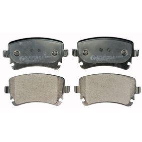 Bremsbelagsatz, Scheibenbremse Höhe: 58,7mm, Dicke/Stärke: 16,6mm mit OEM-Nummer 4B3.698.451A