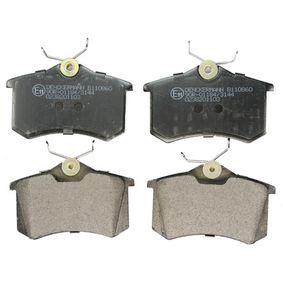 DENCKERMANN Jogo de pastilhas para travão de disco B110860 com códigos OEM 1E0698451