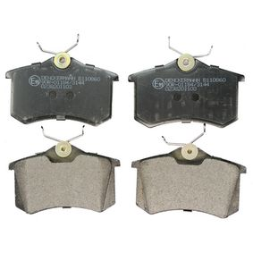 DENCKERMANN Bromsbeläggssats, skivbroms B110860 med OEM Koder 1E0698451G